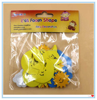 Diy Toy Supply Eva Different Shape Moon Star Cloud Craft Factory Self Adhesive Eva Foam 1.6mm