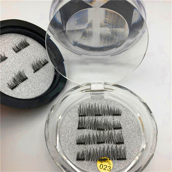 Own Brand Triple or double magnetic false eyelashes magnet Mink lashes magic eyelashes