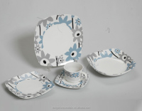 square Retro Antique Dinnerware Set/holiday Ceramic Dinnerware Set