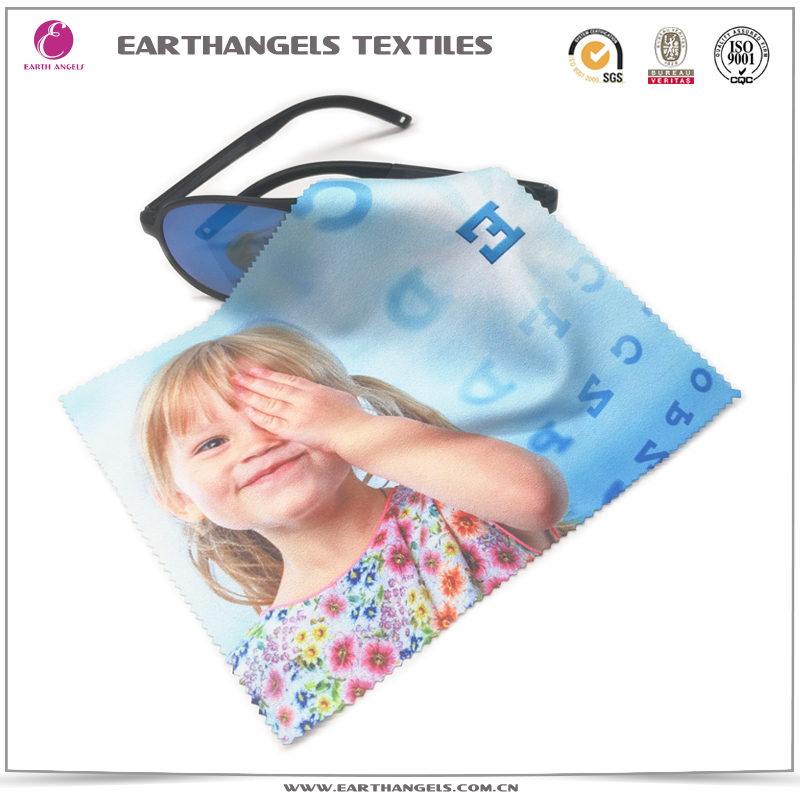 Custom logo printed microfiber glasses cleaning cloth