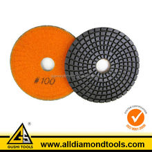 Abrasive 4 Inch Stone Granite Marble Wet Polishing Pads for Angle Grinder