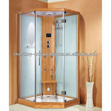 Steam shower cabin, steam and LED top shower