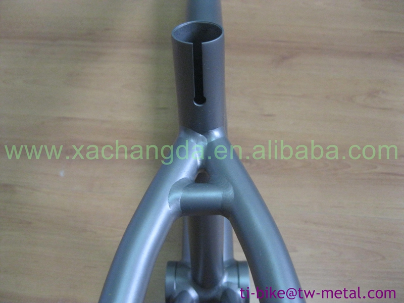"china made BMX frame titanium bmx bicycle frame with 1-1/8"" head tube"