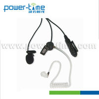For Cobra cb radio in ear headset with clear tube earpiece mic two way radio(PTE-155)