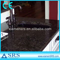 Exotic kitchen angola black granite countertop