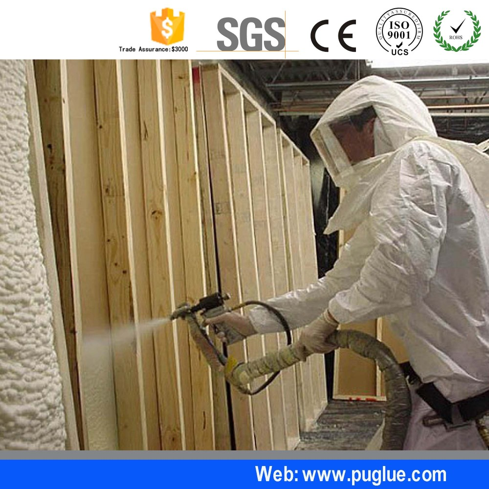 wholesale polyurethane pu raw material spray foam for building insulation