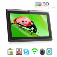 high quality cheap android tablets 7 inch tablet PC Q88 Allwinner A13 ram 512 mb flash 4GB ultrathin Android 4.0 mini laptop