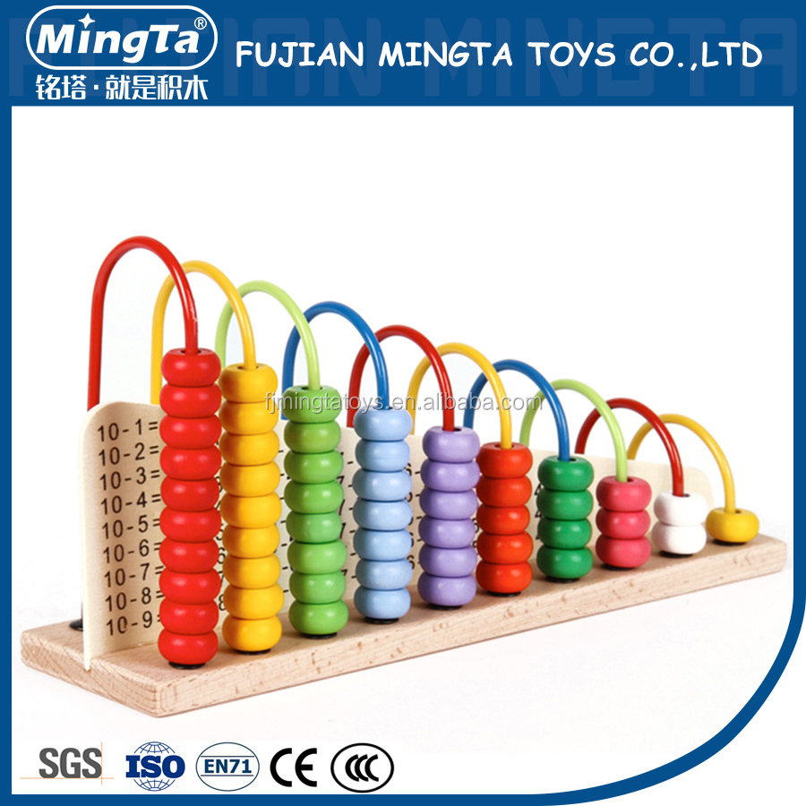 colorful Wooden Math Abacus Toy with high quality