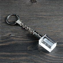 OEM 3d Laser Crystal Photo Keychain With Led Lighting
