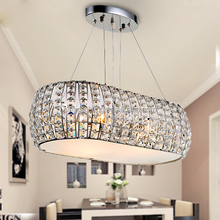 modern luxury Round Creative large circle led e14 chandelier crystals pendant light