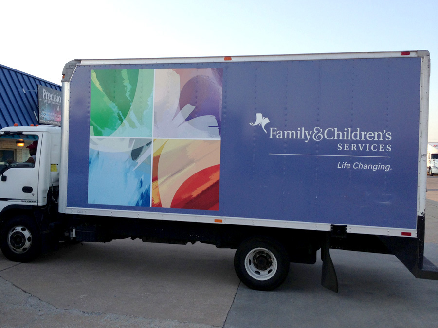 China Factory Custom Precision Sign Children's Services Box Truck Wrap Graphics