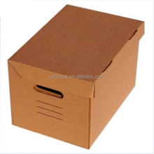 brown cardboard box using corrugated paper