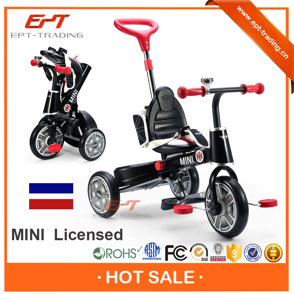 2016 Newly baby ride on tricycle with push handle
