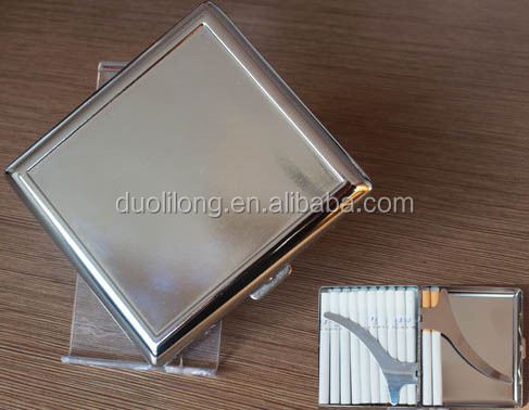 Duolilong D-CC17 12pcs cigarette case metal, cigarette case aluminum, cigarette case with lighter