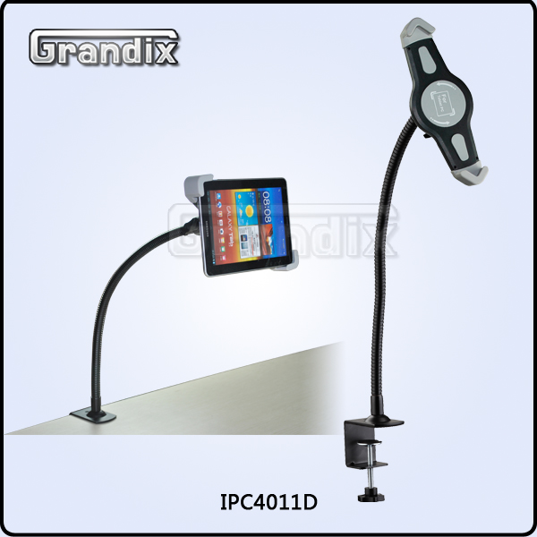 Universal 7-10 inch tablet Gooseneck Clamp Mount Stand