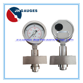 Diaphragm seal pressure gauge