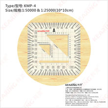 KEARING MILITARY STYLE MGRS/UTM Coordinate PROTRACTOR,aviation square protractor, combination square set protractor,#KMP-4