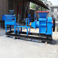 High efficiency diesel engine driven small semi clay brick making machine