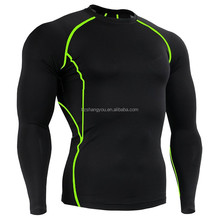 Men's basketball Running sportswear base layer compression tight t-shirt