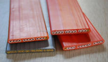 Flat travelling lift cable for elevator grey/orange 100%cooper Special PVC