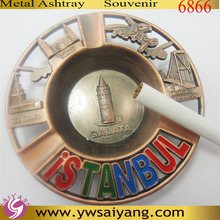 6866 Istanbul Souvenir Red Brass Ashtray Customized Ashtray Copper Antique Turkey Ashtray