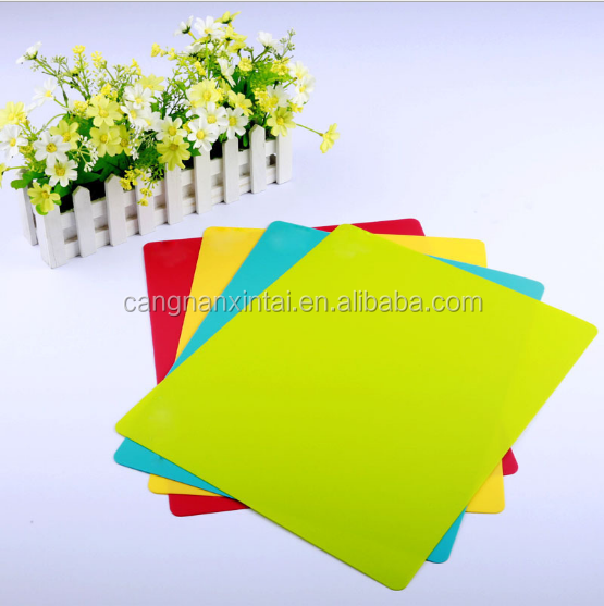 color Printable plastic pp cutting polypropylene kitchen chopping board