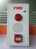 Hot Sale Portable Conventional 1-32 Zone Panel Red Strobe Red 4/6/8/10 Bell Resettable Manual Call Point 3 in 1 Alarm Iron Box