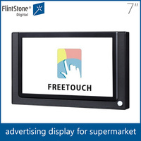 Flintstone 7inch hotel remote control lcd tv screen shelf mounting touch screen kiosk,portable lcd advertising media display