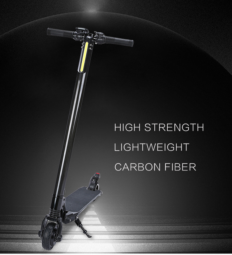 Shenzhen Factory wholesale light weight lithium battery 5/5.5 inch Carbon fiber electric scooter mini Kick Scooter