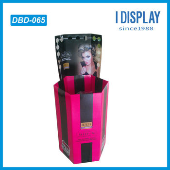 custom cosmetic dump bin display for lipstick cardboard dump display