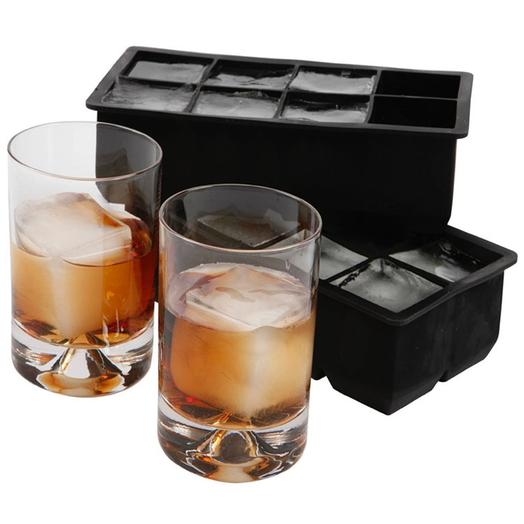 Large Ice Cube Tray with 2 Inch Cubes to Keep Your Drink Chilled For Hours Without Diluting It