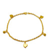 New Korean personality titanium steel Heart-shaped foot jewelry anklets