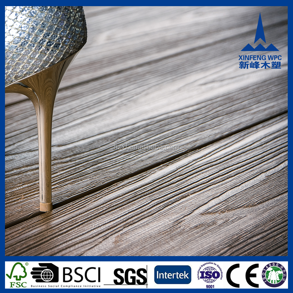 Durable waterproof outdoor WPC recycled rubber decking tiles
