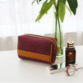 Most popular wool felt travel cosmetic makeup bag