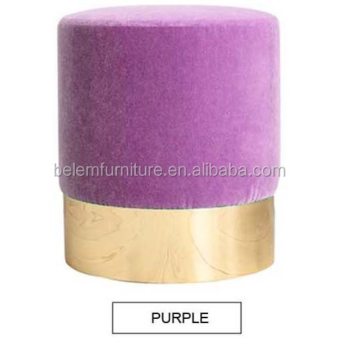 Home furniture modern colorful fabric ottoman luxury stool