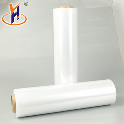 450mm 500mm * 1000ft * 80 gauge 17mic clear pe hand gebruik stretch film 6 rollen per dozen