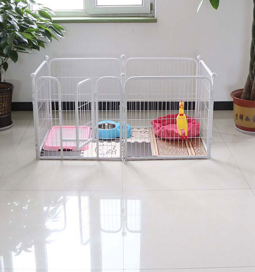 Welded wire mesh outdoor dog kennel with roof or not