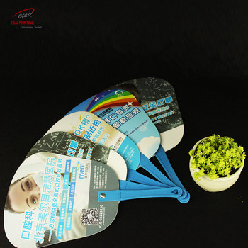 China custom Design PP Fan Portable Plastic Custom Hand Fan for advertisement promotional