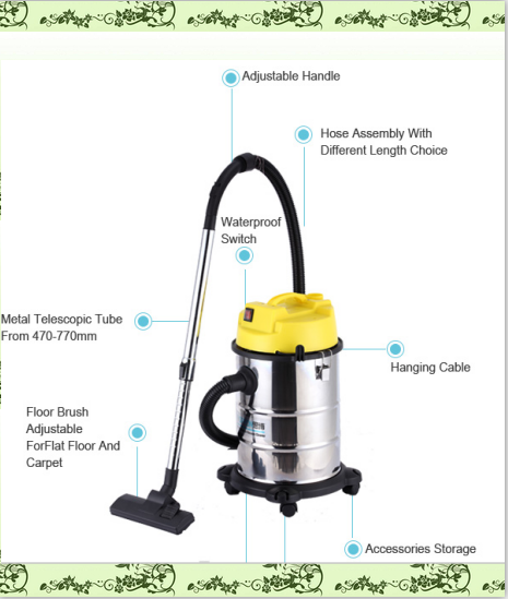 stainless steel barrel wet dry barrel type vacuum cleaner with blower