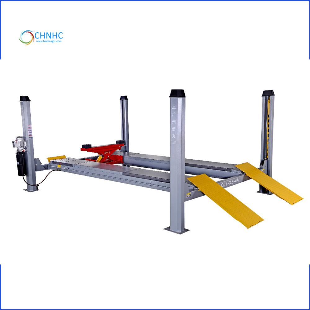3500kg High Quality Alignment Car Lift Ramps Four Post Lift