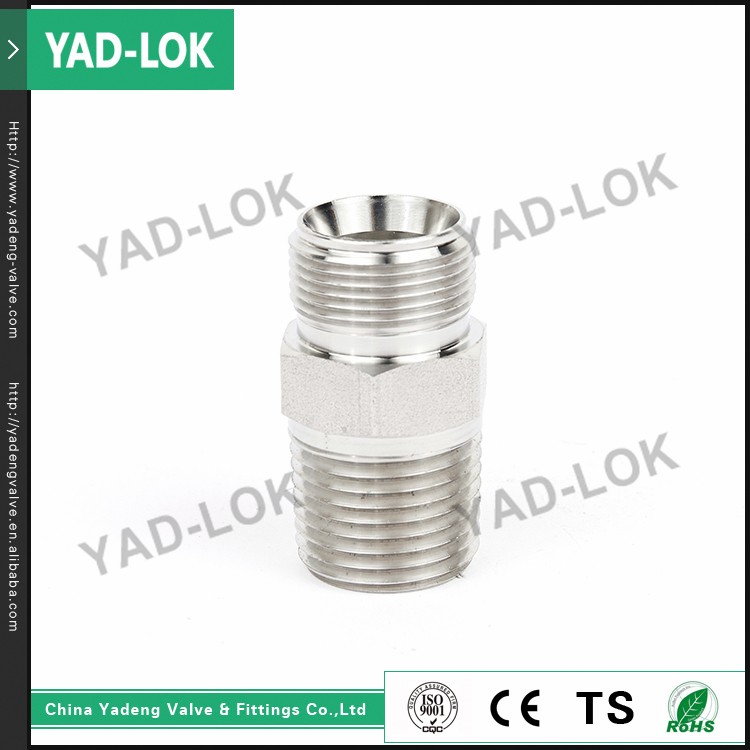 YAD-LOK Hexagonal Casting Screw Male Nipple Union Stainless Steel Pipe Fittings