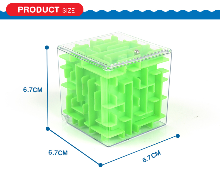 Plastic learning toys 3D magic puzzle game box sequential maze cube for kids gifts
