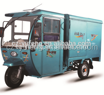 Hot sales closed cabin Electric cargo tricycle for express transport