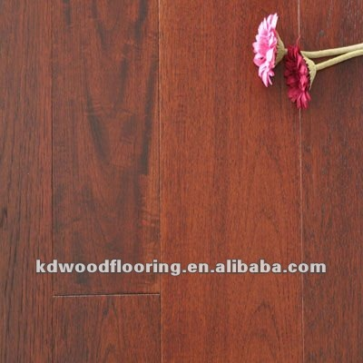 Wirebrushed & carbonized American hickory multi-layer engineered wood flooring