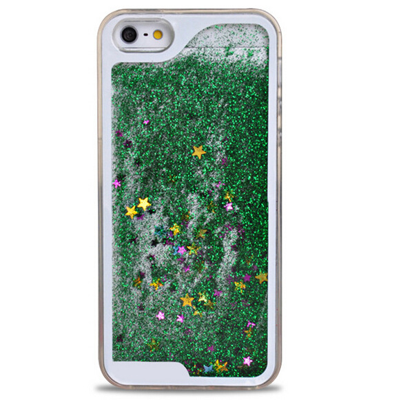 transparent glitter stars dynamic liquid 3D quicksand phone cover case