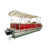 22ft Aluminum Red House Boats Luxury Pontoon Boat For Sale