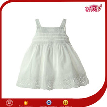 fashion designer latest simple design plus size baby girls one piece white cotton materials short pattern frock dress