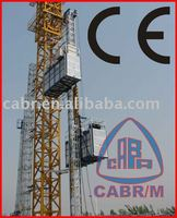 Double cage passenger building hoist for construction