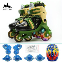 Hockey 4 Wheels Skates Children Roller Skates
