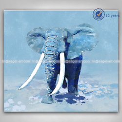High Quality Modern Handmade Canvas Elephant Animal Abstract Wall Decoration Art Painting Pictures